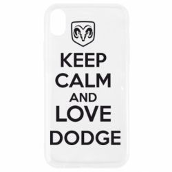 Чехол для iPhone XR KEEP CALM AND LOVE DODGE - FatLine