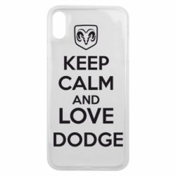 Чехол для iPhone Xs Max KEEP CALM AND LOVE DODGE - FatLine
