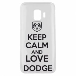Чехол для Samsung J2 Core KEEP CALM AND LOVE DODGE - FatLine
