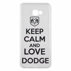 Чехол для Samsung J4 Plus 2018 KEEP CALM AND LOVE DODGE - FatLine