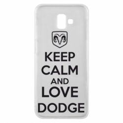 Чехол для Samsung J6 Plus 2018 KEEP CALM AND LOVE DODGE - FatLine