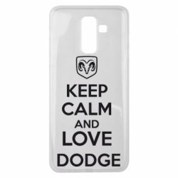 Чехол для Samsung J8 2018 KEEP CALM AND LOVE DODGE - FatLine