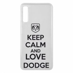 Чехол для Samsung A7 2018 KEEP CALM AND LOVE DODGE - FatLine