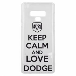 Чехол для Samsung Note 9 KEEP CALM AND LOVE DODGE - FatLine