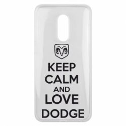Чехол для Meizu 16 plus KEEP CALM AND LOVE DODGE - FatLine