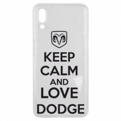 Чехол для Meizu E3 KEEP CALM AND LOVE DODGE - FatLine