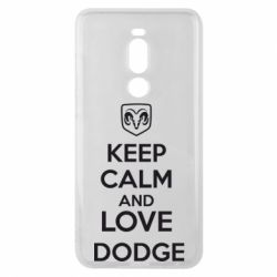 Чехол для Meizu Note 8 KEEP CALM AND LOVE DODGE - FatLine