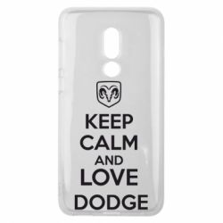 Чехол для Meizu V8 KEEP CALM AND LOVE DODGE - FatLine
