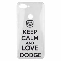 Чехол для Xiaomi Mi8 Lite KEEP CALM AND LOVE DODGE - FatLine