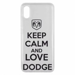Чехол для Xiaomi Mi8 Pro KEEP CALM AND LOVE DODGE - FatLine