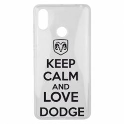 Чехол для Xiaomi Mi Max 3 KEEP CALM AND LOVE DODGE - FatLine