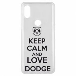 Чехол для Xiaomi Mi Mix 3 KEEP CALM AND LOVE DODGE - FatLine