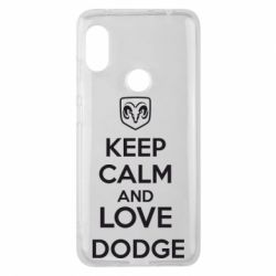 Чехол для Xiaomi Redmi Note 6 Pro KEEP CALM AND LOVE DODGE - FatLine