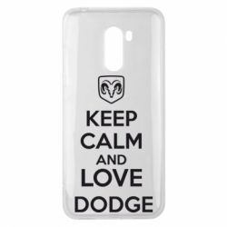 Чехол для Xiaomi Pocophone F1 KEEP CALM AND LOVE DODGE - FatLine