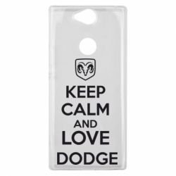 Чехол для Sony Xperia XA2 Plus KEEP CALM AND LOVE DODGE - FatLine