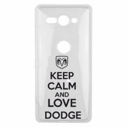 Чехол для Sony Xperia XZ2 Compact KEEP CALM AND LOVE DODGE - FatLine