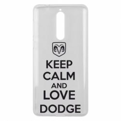 Чехол для Nokia 8 KEEP CALM AND LOVE DODGE - FatLine