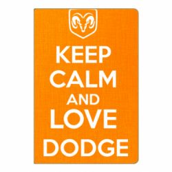Блокнот А5 KEEP CALM AND LOVE DODGE - FatLine