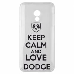 Чехол для Meizu 15 Lite KEEP CALM AND LOVE DODGE - FatLine