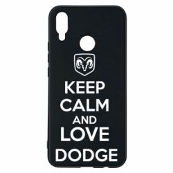 Чехол для Huawei P Smart Plus KEEP CALM AND LOVE DODGE - FatLine