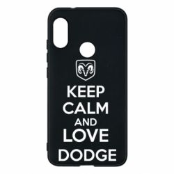 Чехол для Mi A2 Lite KEEP CALM AND LOVE DODGE - FatLine