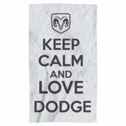 Полотенце KEEP CALM AND LOVE DODGE - FatLine