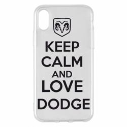 Чехол для iPhone X KEEP CALM AND LOVE DODGE - FatLine