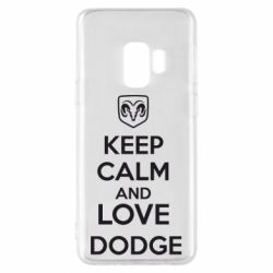 Чехол для Samsung S9 KEEP CALM AND LOVE DODGE - FatLine