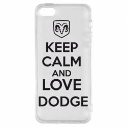 Чехол для iPhone5/5S/SE KEEP CALM AND LOVE DODGE - FatLine
