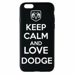 Чехол для iPhone 6/6S KEEP CALM AND LOVE DODGE - FatLine
