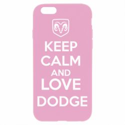 Чехол для iPhone 6 Plus/6S Plus KEEP CALM AND LOVE DODGE - FatLine