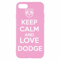 Чехол для iPhone 7 KEEP CALM AND LOVE DODGE - FatLine