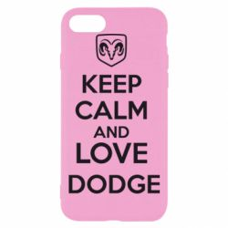 Чехол для iPhone 8 KEEP CALM AND LOVE DODGE - FatLine