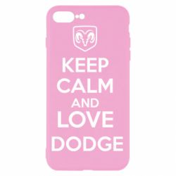 Чехол для iPhone 8 Plus KEEP CALM AND LOVE DODGE - FatLine