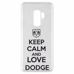 Чехол для Samsung S9+ KEEP CALM AND LOVE DODGE - FatLine