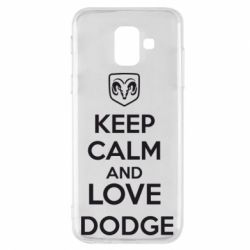 Чехол для Samsung A6 2018 KEEP CALM AND LOVE DODGE - FatLine