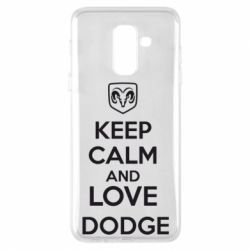 Чехол для Samsung A6+ 2018 KEEP CALM AND LOVE DODGE - FatLine