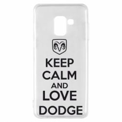 Чехол для Samsung A8 2018 KEEP CALM AND LOVE DODGE - FatLine