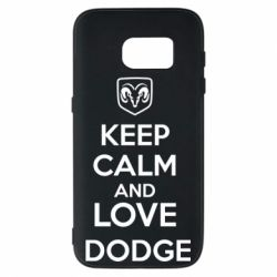 Чехол для Samsung S7 KEEP CALM AND LOVE DODGE - FatLine