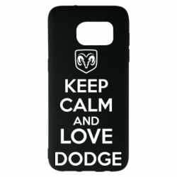Чехол для Samsung S7 EDGE KEEP CALM AND LOVE DODGE - FatLine
