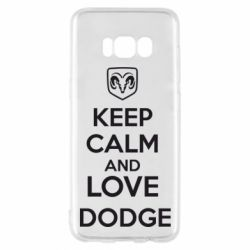 Чехол для Samsung S8 KEEP CALM AND LOVE DODGE - FatLine