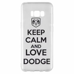 Чехол для Samsung S8+ KEEP CALM AND LOVE DODGE - FatLine