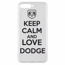 Чехол для Huawei Y6 2018 KEEP CALM AND LOVE DODGE - FatLine
