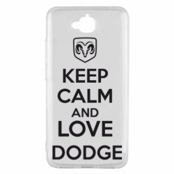 Чехол для Huawei Y6 Pro KEEP CALM AND LOVE DODGE - FatLine