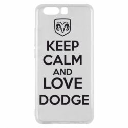 Чехол для Huawei P10 KEEP CALM AND LOVE DODGE - FatLine