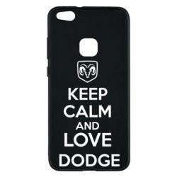 Чехол для Huawei P10 Lite KEEP CALM AND LOVE DODGE - FatLine