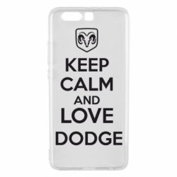 Чехол для Huawei P10 Plus KEEP CALM AND LOVE DODGE - FatLine