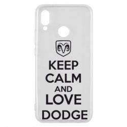 Чехол для Huawei P20 Lite KEEP CALM AND LOVE DODGE - FatLine