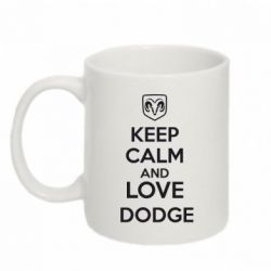Кружка 320ml KEEP CALM AND LOVE DODGE - FatLine