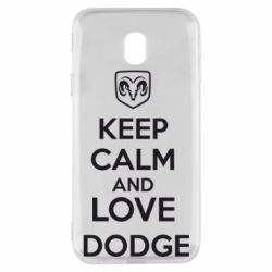 Чехол для Samsung J3 2017 KEEP CALM AND LOVE DODGE - FatLine